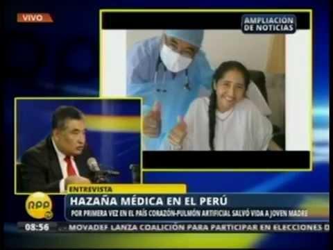 Clinica del INCA - RPP 15/01/2015 - Por primera vez en el País Corazón-Pulmón artificial salvo vida a joven madre