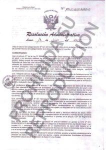 Resolución Categorización III2 RA-1094-15-DESP-DISA-II-LS